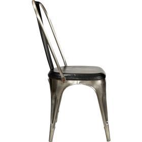 Kovová stolička potiahnutá...