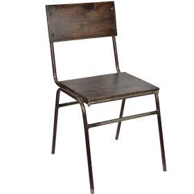 Školská  stolička z tmavého...