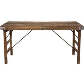 Starý drevený jedálenský stôl