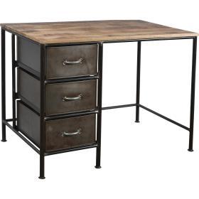 Písací stôl s 3 zásuvkami a...