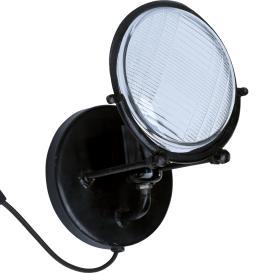 Nástenná lampa - čierna
