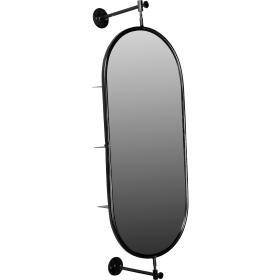 Otočné zrkadlo s policami