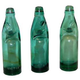 Staré sklenené fľaše