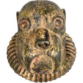 Drevená hlava zvieraťa