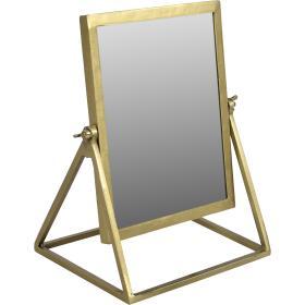 Stolové zrkadlo - mosadz