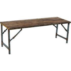 Vintage  drevená lavica