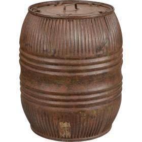 Starý železný sud - hnedý
