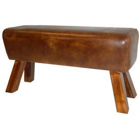 Kožený puf Lomborg
