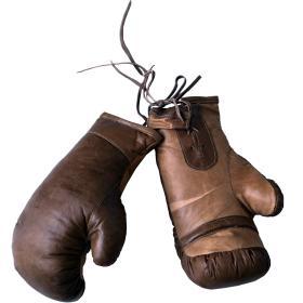 Vintage boxerské rukavice -...
