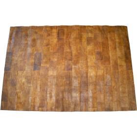 Kožený koberec - hnedý