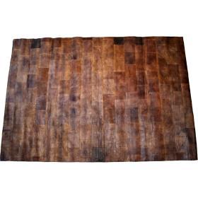 Kožený koberec - tmavo hnedý