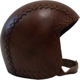Kožená prilba - tmavo hnedá
