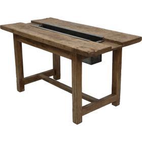 Jedálenský stôl s kovovou...