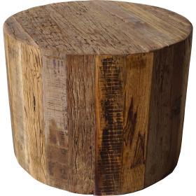 Pekný guľatý drevený stôl s...