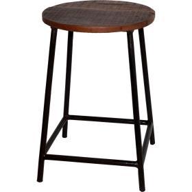 Kovová  stolička s guľatým...
