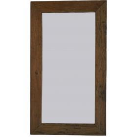 Zrkadlo so širokým dreveným...