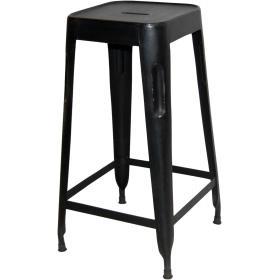 Vysoká stolička - čierna