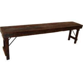 Stará drevená lavica s...