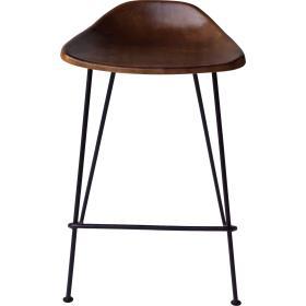 Barová stolička s koženým...