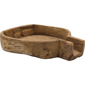Veľká stará drevená misa