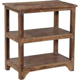 Vintage drevený regál