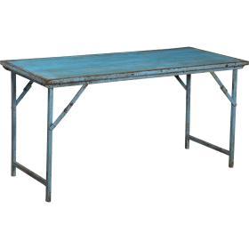 Originálny starý stôl - modrý