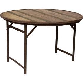 Starý okrúhly drevený stôl...