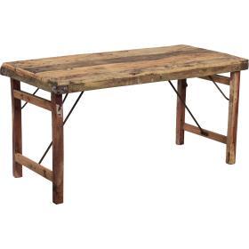 Starý drevený stôl