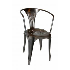 Kovová jedálenská stolička - čierna