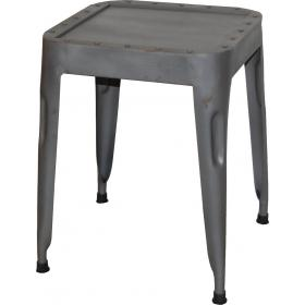 Cool stool in iron - antique zinc