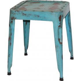 Starožitná železná stolička - modrá