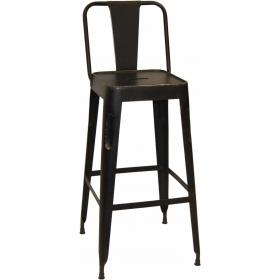 Bar stool in iron - antique copper