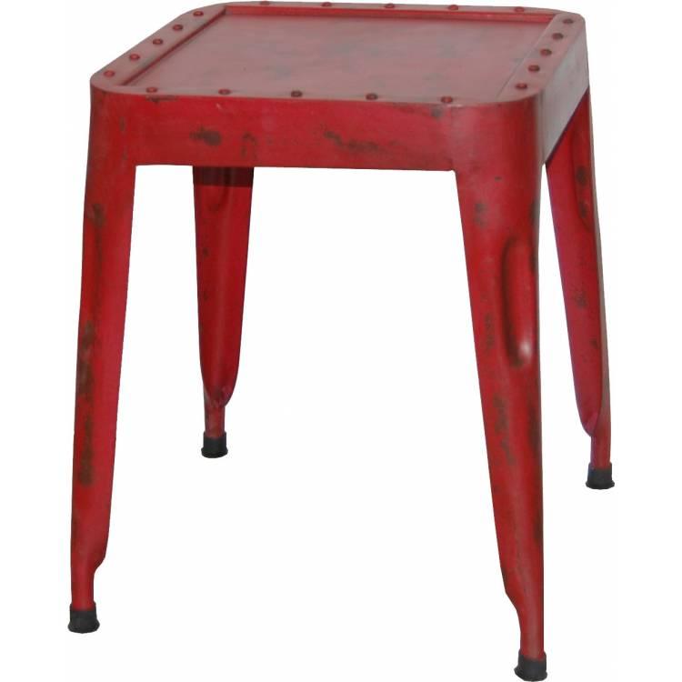 Starožitná železná stolička - červená