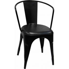 Čierna kovová stolička