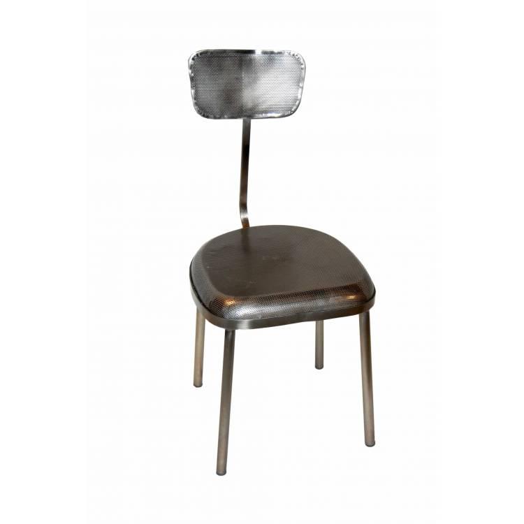 ruhe stuhl mit perforierten eisen antik zink. Black Bedroom Furniture Sets. Home Design Ideas