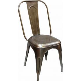 Kovová stolička v industriálnom štýle - červená