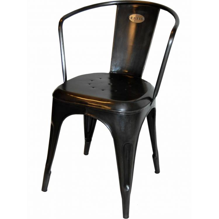 Cool iron chair - shiny