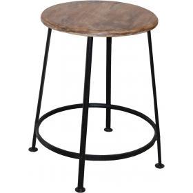 Industriálna železná stolička - čierna