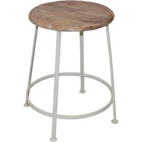 Industriálna železná stolička - biela