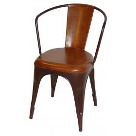 Jedálenská stolička - hrdza a koža