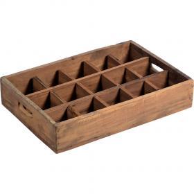 Drevený box s 15 priehradkami