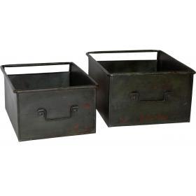 Skladovacie krabice - fabrická zelená