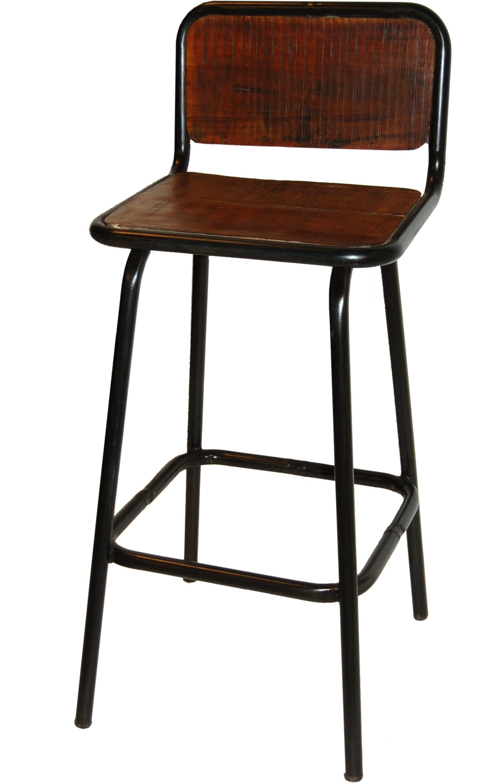 fd86c2650ee7 Barová stolička z recyklovaného dreva