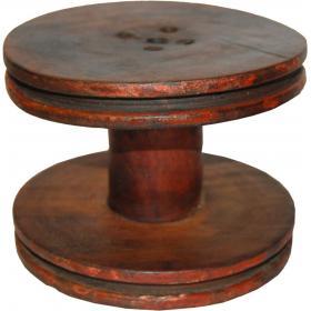 Stará vintage drevená cievka - veľká