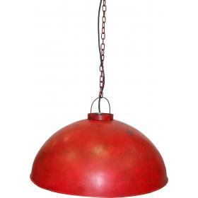 Pendant lamp, industrial style, - industrial red