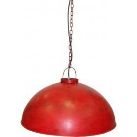 Závesná lampa v industriálnom štýle - priemyselná červená