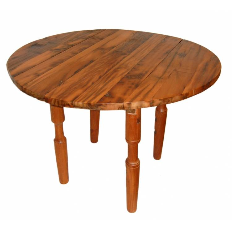round dining table with 2 folding plates