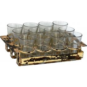 Cool tray comes with 12 glasses