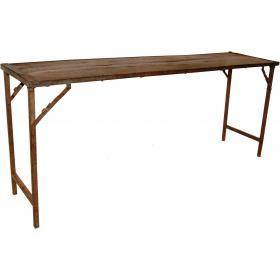 Stôl s opotrebenou patinou