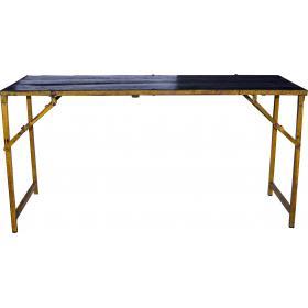 Tabelle mit einem kühlen farbigen Rand - schwarz und gelb